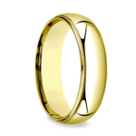 Milgrain Comfort-Fit Men's Wedding Band in Yellow Gold (6mm) | Thumbnail 02