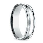 Milgrain Men's Wedding Ring in Platinum (6mm) | Thumbnail 02