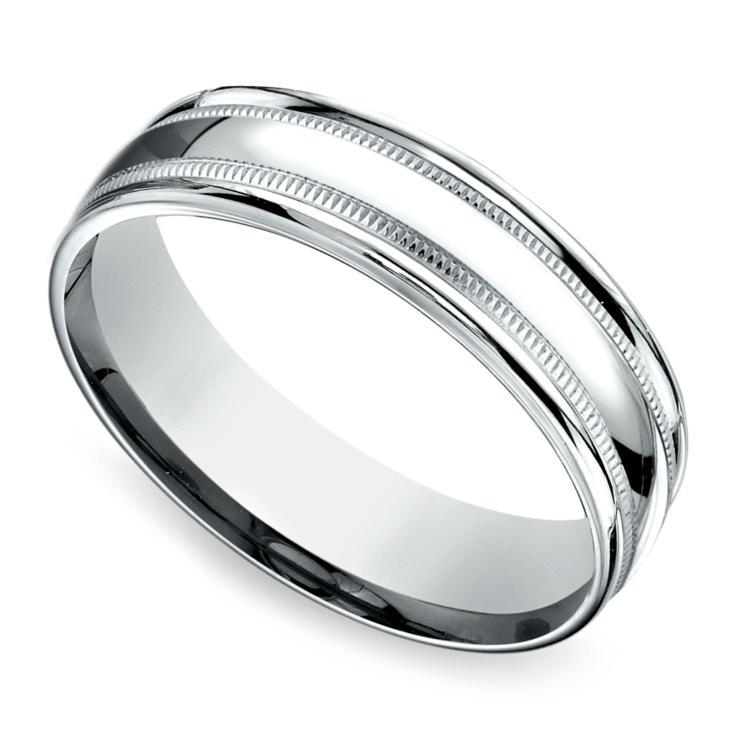 Milgrain Men's Wedding Ring in Platinum (6mm) | 01