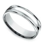 Milgrain Men's Wedding Ring in White Gold (6mm)   Thumbnail 01