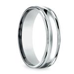 Milgrain Men's Wedding Ring in White Gold (6mm)   Thumbnail 02