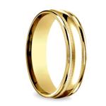 Milgrain Men's Wedding Ring in Yellow Gold (6mm) | Thumbnail 02
