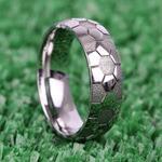 Striker - Cobalt Mens Ring with Soccer Ball Pattern | Thumbnail 05