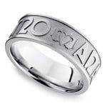 Mo Anam Cara Claddagh Men's Wedding Ring in Cobalt   Thumbnail 01