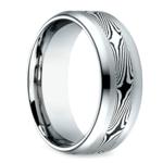Mokume Men's Wedding Ring in Cobalt (8mm) | Thumbnail 02