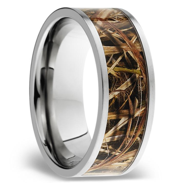 MossyOak SG Blades Inlay Men's Wedding Ring in Titanium | 02