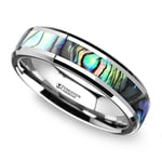 Mother of Pearl Inlay Wedding Ring in Tungsten (4mm)   Thumbnail 01
