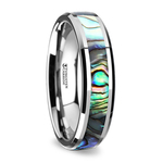 Mother of Pearl Inlay Wedding Ring in Tungsten (4mm)   Thumbnail 02
