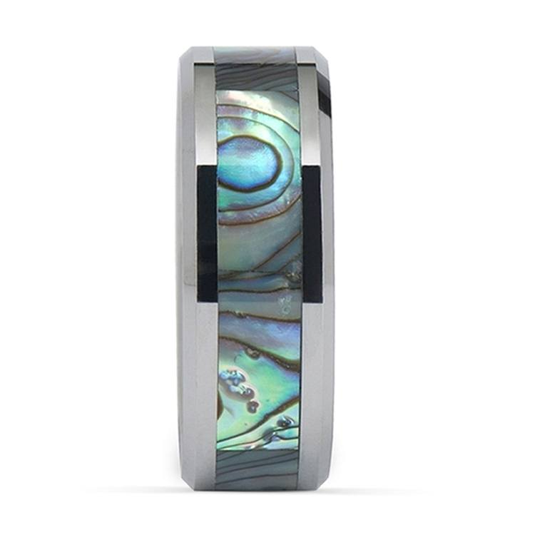 Mother of Pearl Inlay Men's Wedding Ring in Tungsten (8mm) | 03