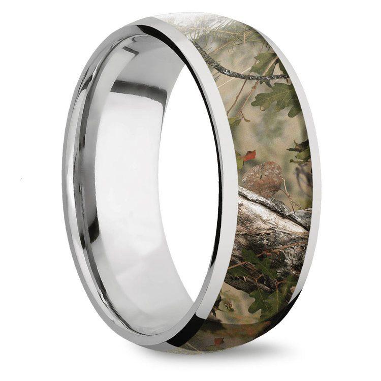 Mountain Range - Titanium Mens Leaf Ring | 02