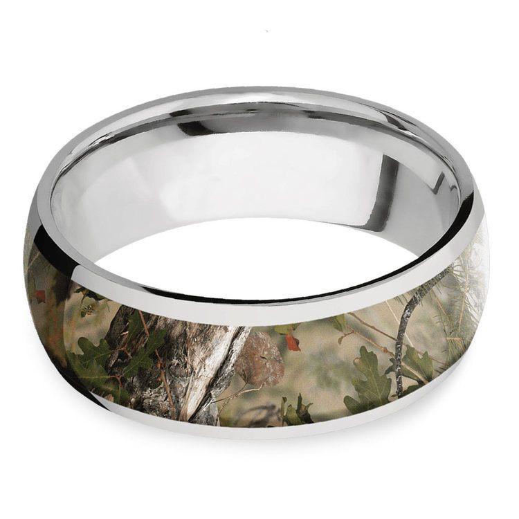 Mountain Range - Titanium Mens Leaf Ring | 03