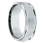 Multi Milgrain Men's Wedding Ring in Palladium | Thumbnail 02
