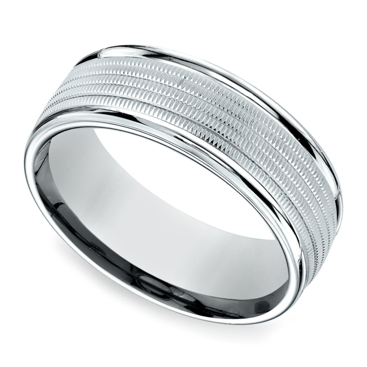 Multi Milgrain Men's Wedding Ring in Palladium | 01