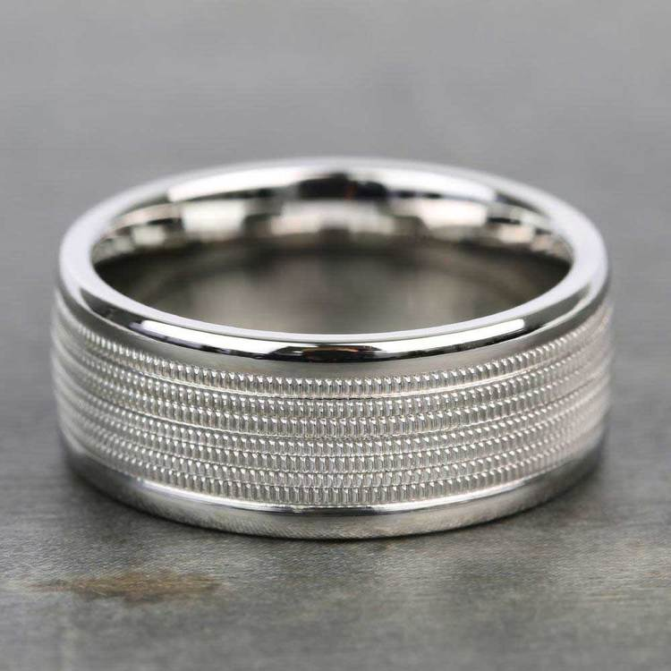 Multi Milgrain Men's Wedding Ring in Platinum | 03