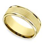 Multi Milgrain Men's Wedding Ring in Yellow Gold | Thumbnail 01