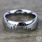 New York Skyline Men's Wedding Ring in Cobalt | Thumbnail 03