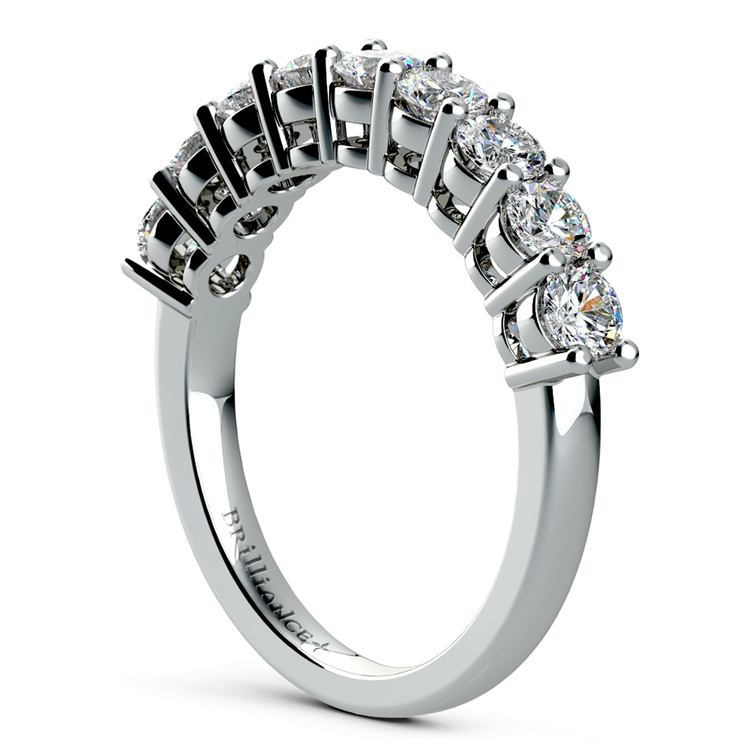 Nine Diamond Wedding Ring in Platinum (1 ctw) | 04