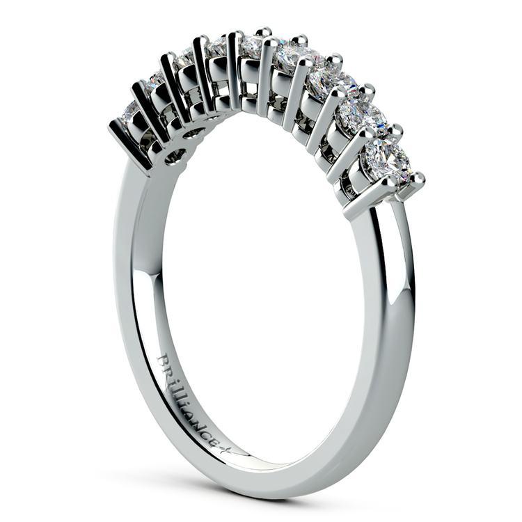 Nine Diamond Wedding Ring in Platinum (1/2 ctw) | 04