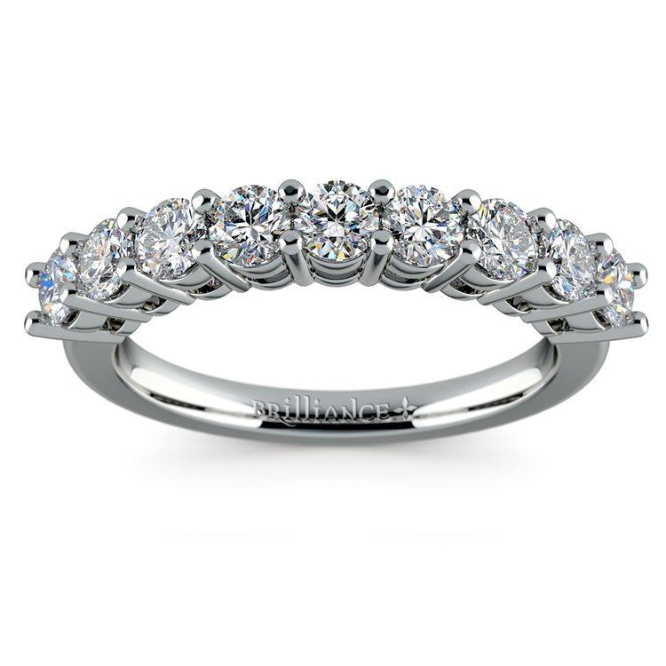 Nine Diamond Wedding Ring in White Gold (1 ctw) | 02