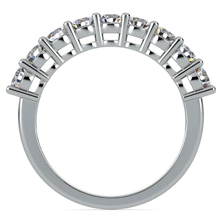 Nine Diamond Wedding Ring in White Gold (1 ctw) | 03