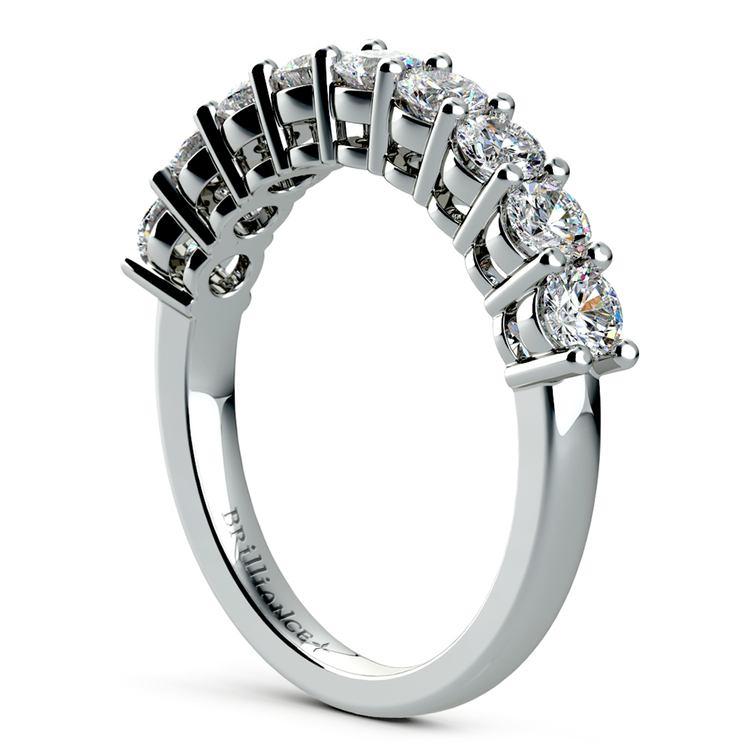 Nine Diamond Wedding Ring in White Gold (1 ctw) | 04