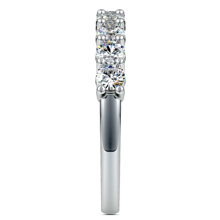 Nine Diamond Wedding Ring in White Gold (1 ctw) | 05