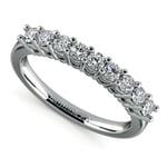 Nine Diamond Wedding Ring in White Gold (1/2 ctw) | Thumbnail 01