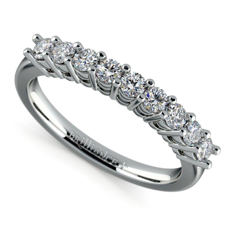 Nine Diamond Wedding Ring in White Gold (1/2 ctw) | 01