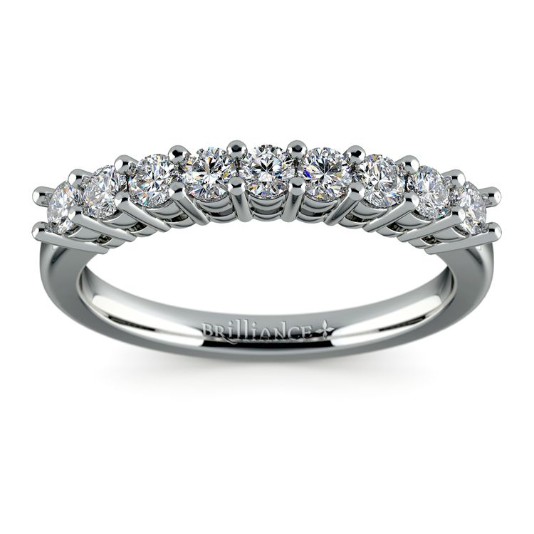 Nine Diamond Wedding Ring in White Gold (1/2 ctw) | 02