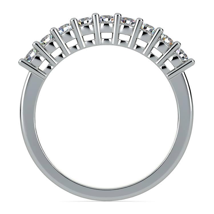 Nine Diamond Wedding Ring in White Gold (1/2 ctw) | 03