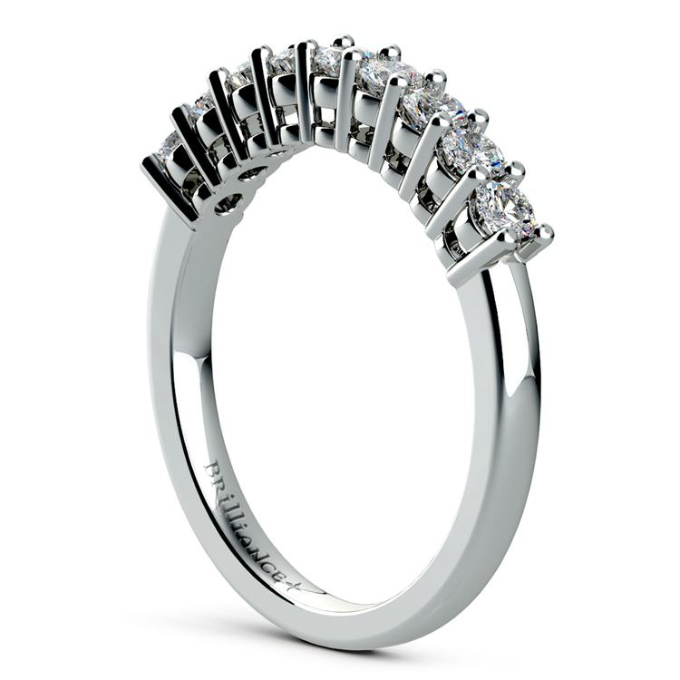 Nine Diamond Wedding Ring in White Gold (1/2 ctw) | 04