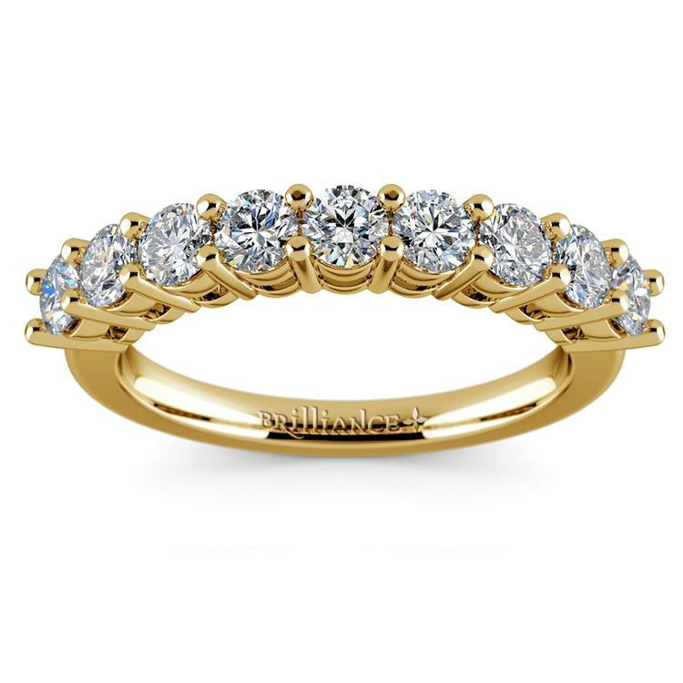 Nine Diamond Wedding Ring in Yellow Gold (1 ctw) | 02