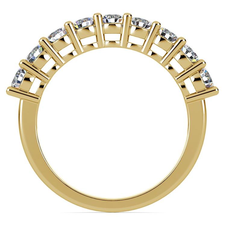 Nine Diamond Wedding Ring in Yellow Gold (1 ctw) | 03