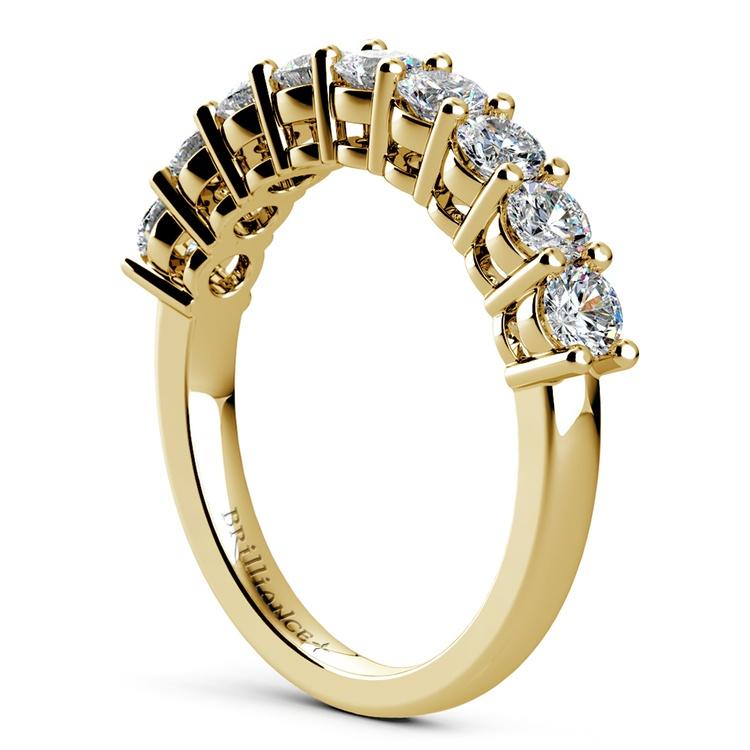 Nine Diamond Wedding Ring in Yellow Gold (1 ctw) | 04