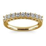Nine Diamond Wedding Ring in Yellow Gold (1/2 ctw) | Thumbnail 02
