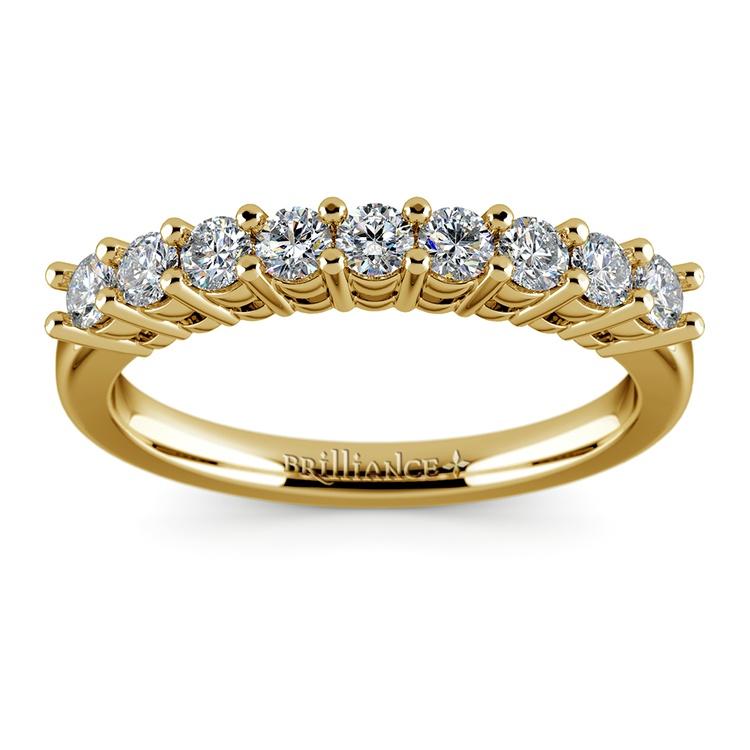 Nine Diamond Wedding Ring in Yellow Gold (1/2 ctw) | 02