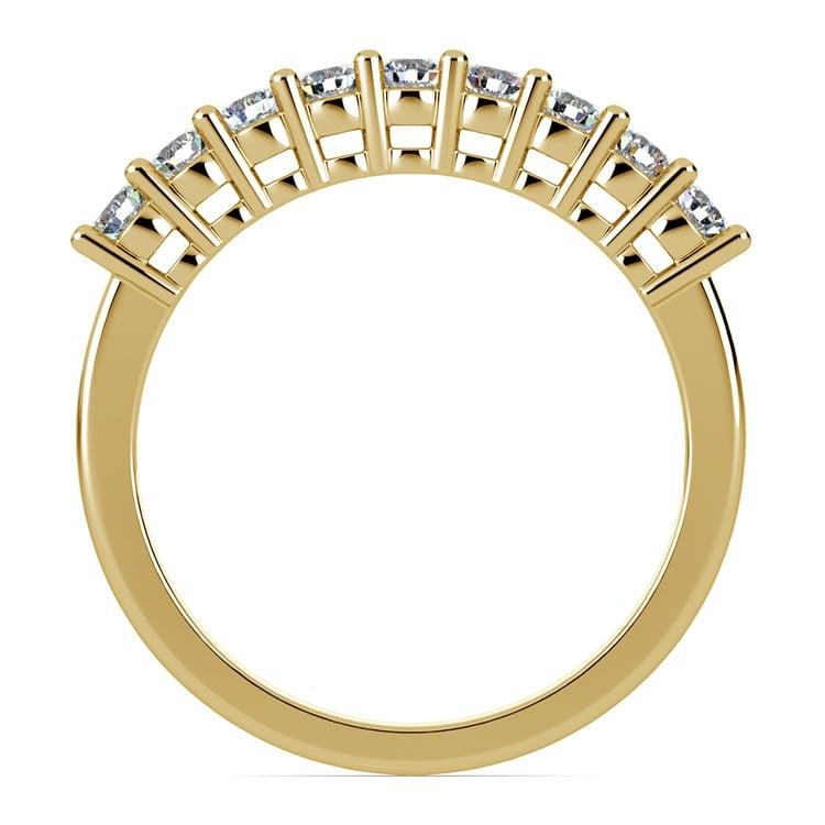 Nine Diamond Wedding Ring in Yellow Gold (1/2 ctw) | 03