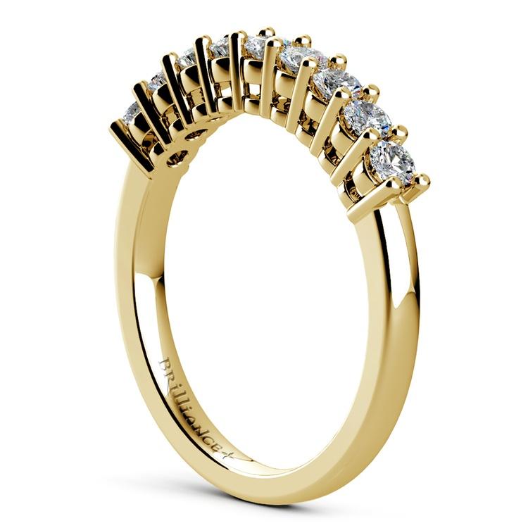 Nine Diamond Wedding Ring in Yellow Gold (1/2 ctw) | 04