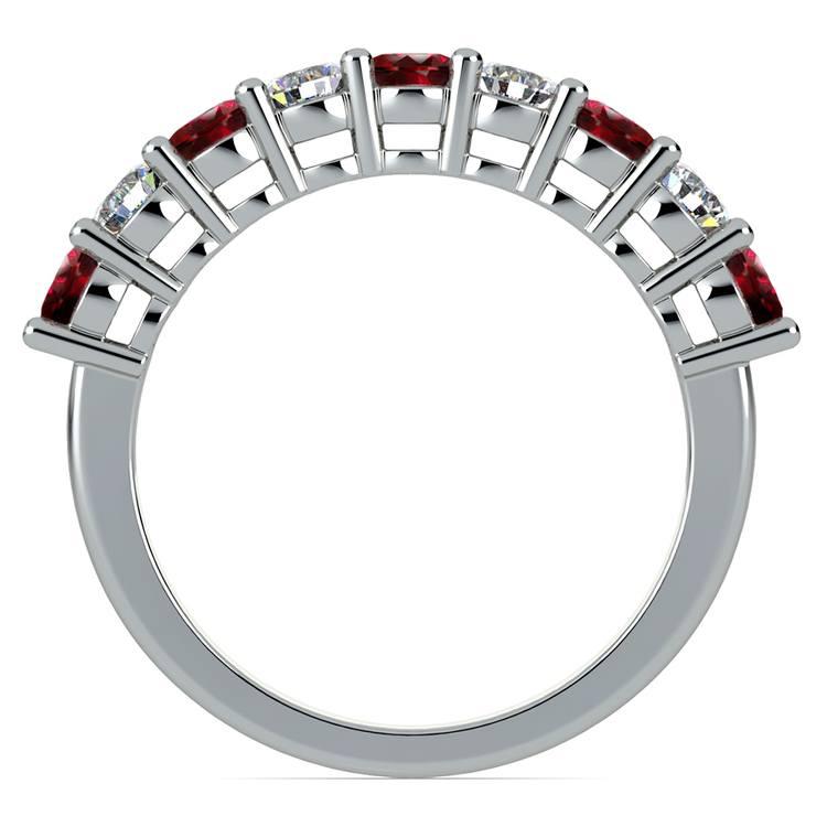 Nine Diamond & Ruby Wedding Ring in Platinum | 03