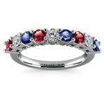 Nine Diamond & Gemstone Ring in White Gold | Thumbnail 02