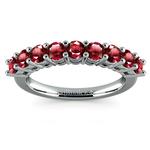 Nine Ruby Gemstone Ring in Platinum | Thumbnail 02