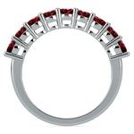 Nine Ruby Gemstone Ring in Platinum | Thumbnail 03