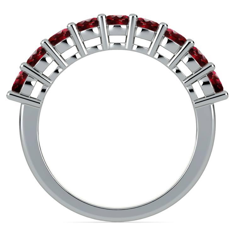 Nine Ruby Gemstone Ring in Platinum | 03
