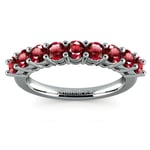 Nine Ruby Gemstone Ring in White Gold | Thumbnail 02