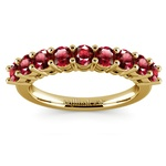 Nine Ruby Gemstone Ring in Yellow Gold | Thumbnail 02