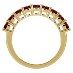 Nine Ruby Gemstone Ring in Yellow Gold | Thumbnail 03