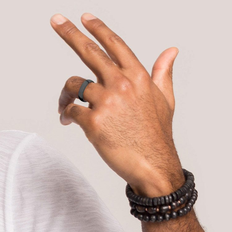 Nyx - Polished Domed Elysium Ring (6mm) | 05