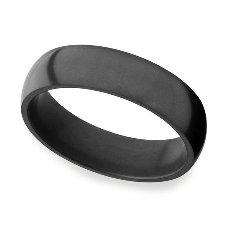 Nyx - Polished Domed Elysium Ring (6mm) | 01