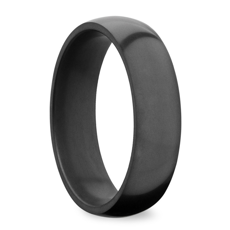 Nyx - Polished Domed Elysium Ring (6mm) | 02