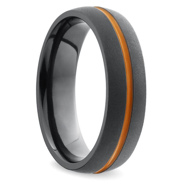 Orange Antiqued Wedding Ring in Zirconium | 02
